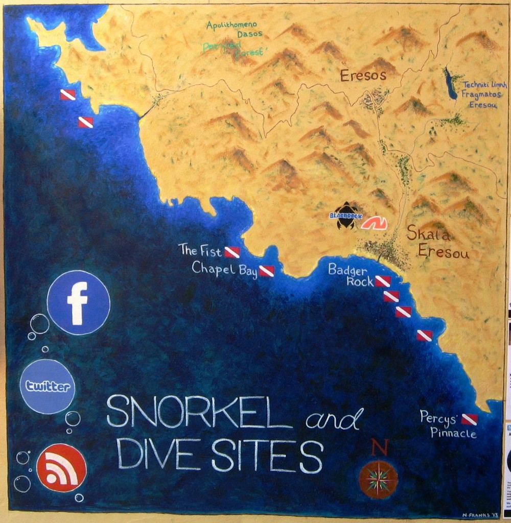 Lesvos Dive Site Map2